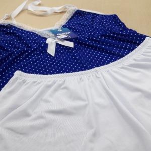 Azul Bic/ Poá Branco