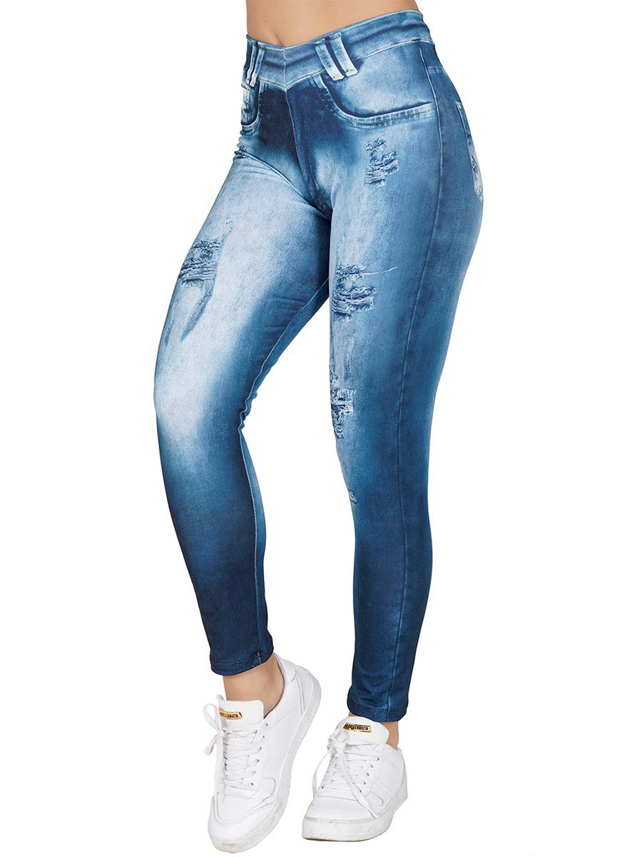 Calça Fitness Fake Jeans Bruna