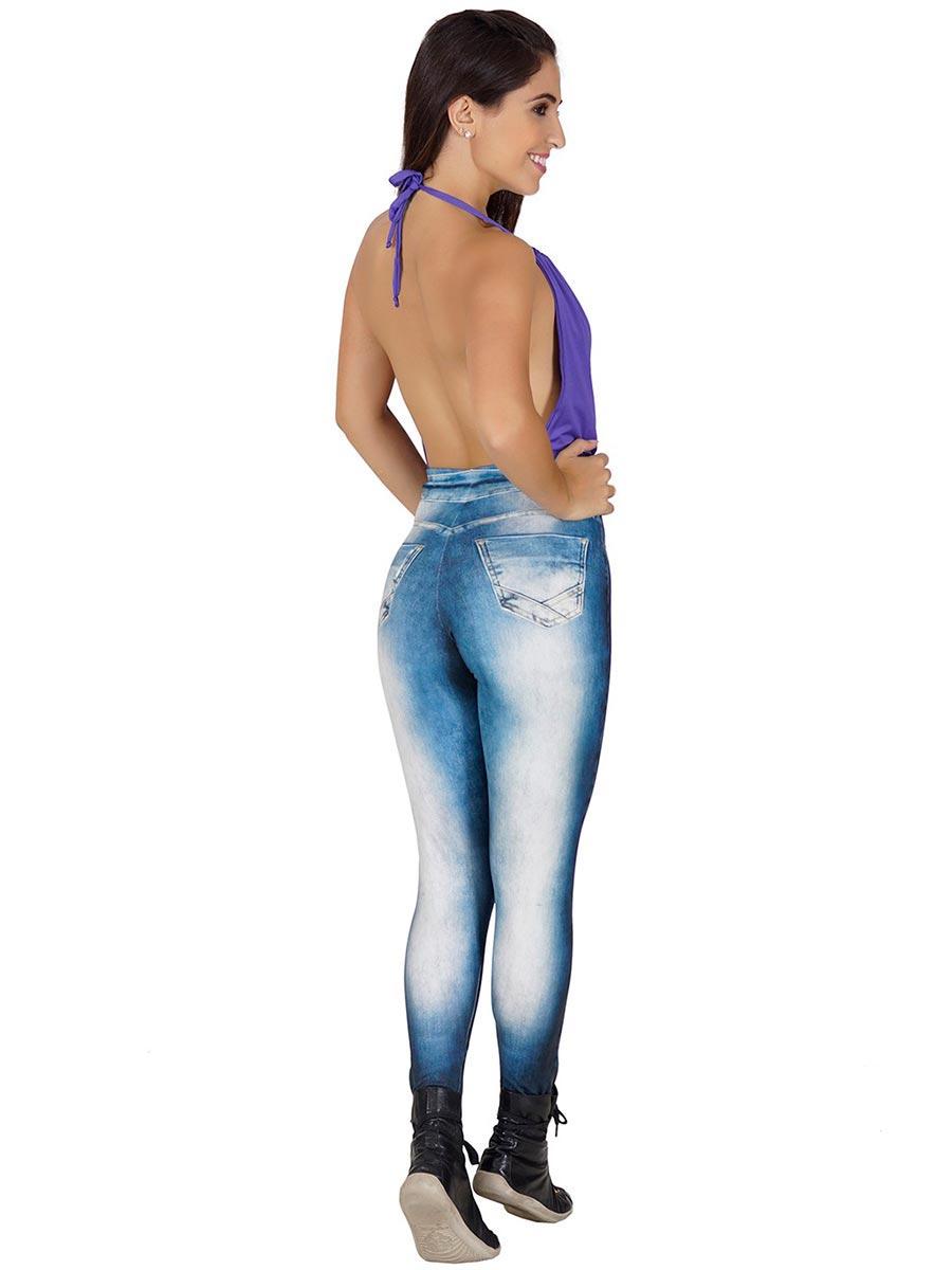 Calça Fitness Fake Jeans Jenifer
