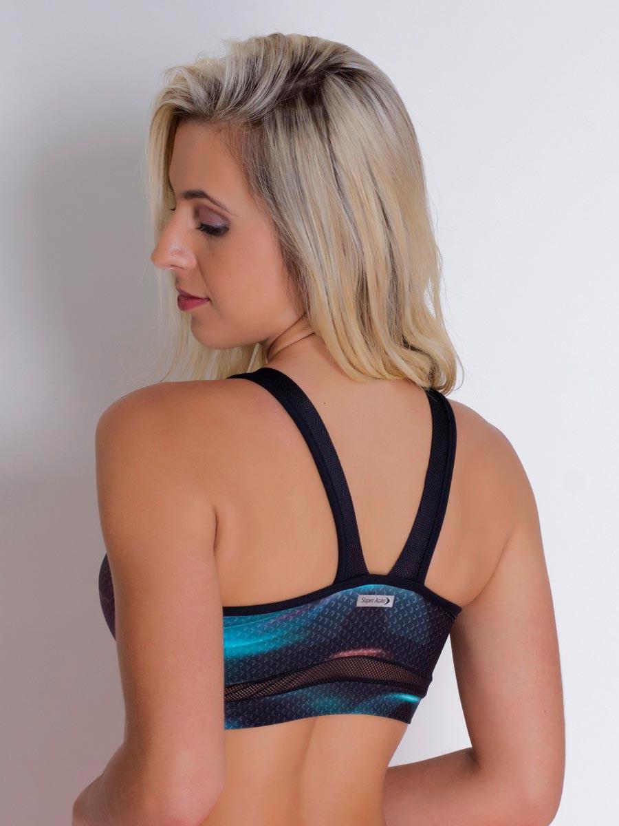 Cropped Fitness Estampado com detalhes Dry Fit 2077