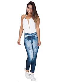 Calça Fitness Fake Jeans Bruna